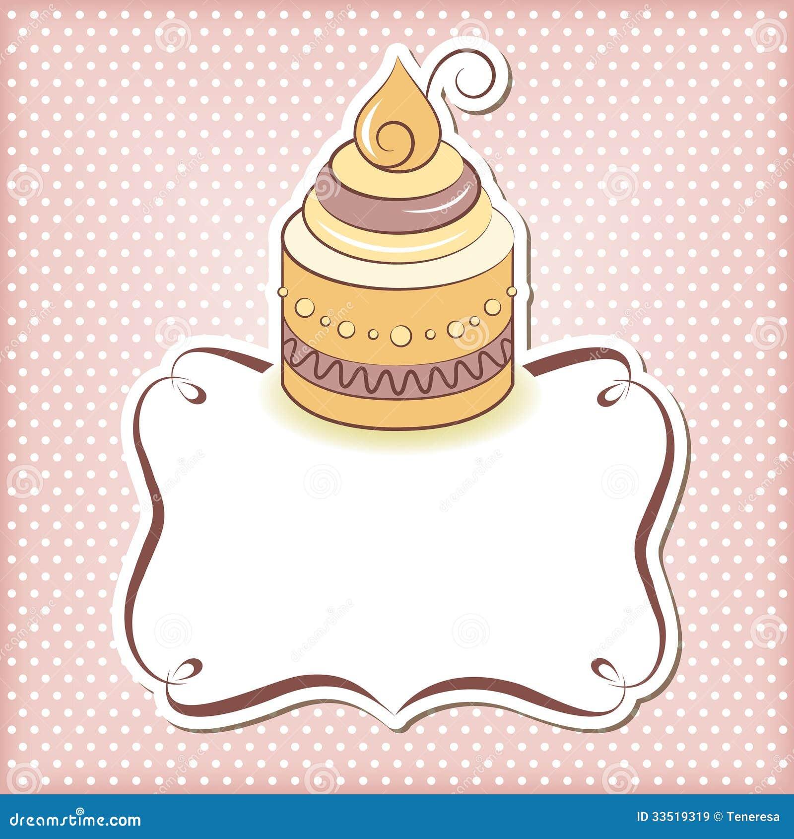 Cute cupcake frame. Cute cupcake frame. Editable vector illustration.