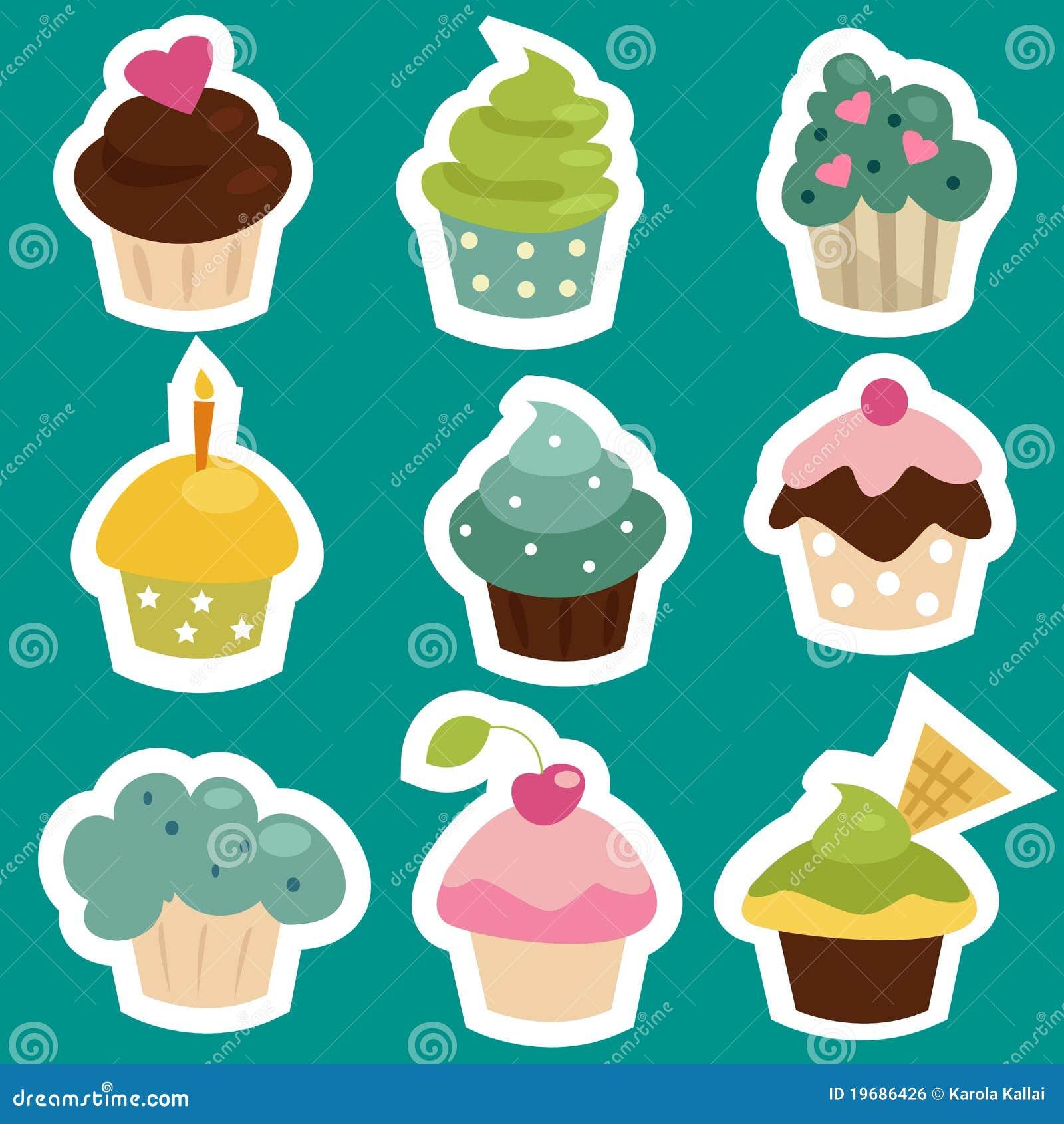 Cute Cupcake Stickers ...