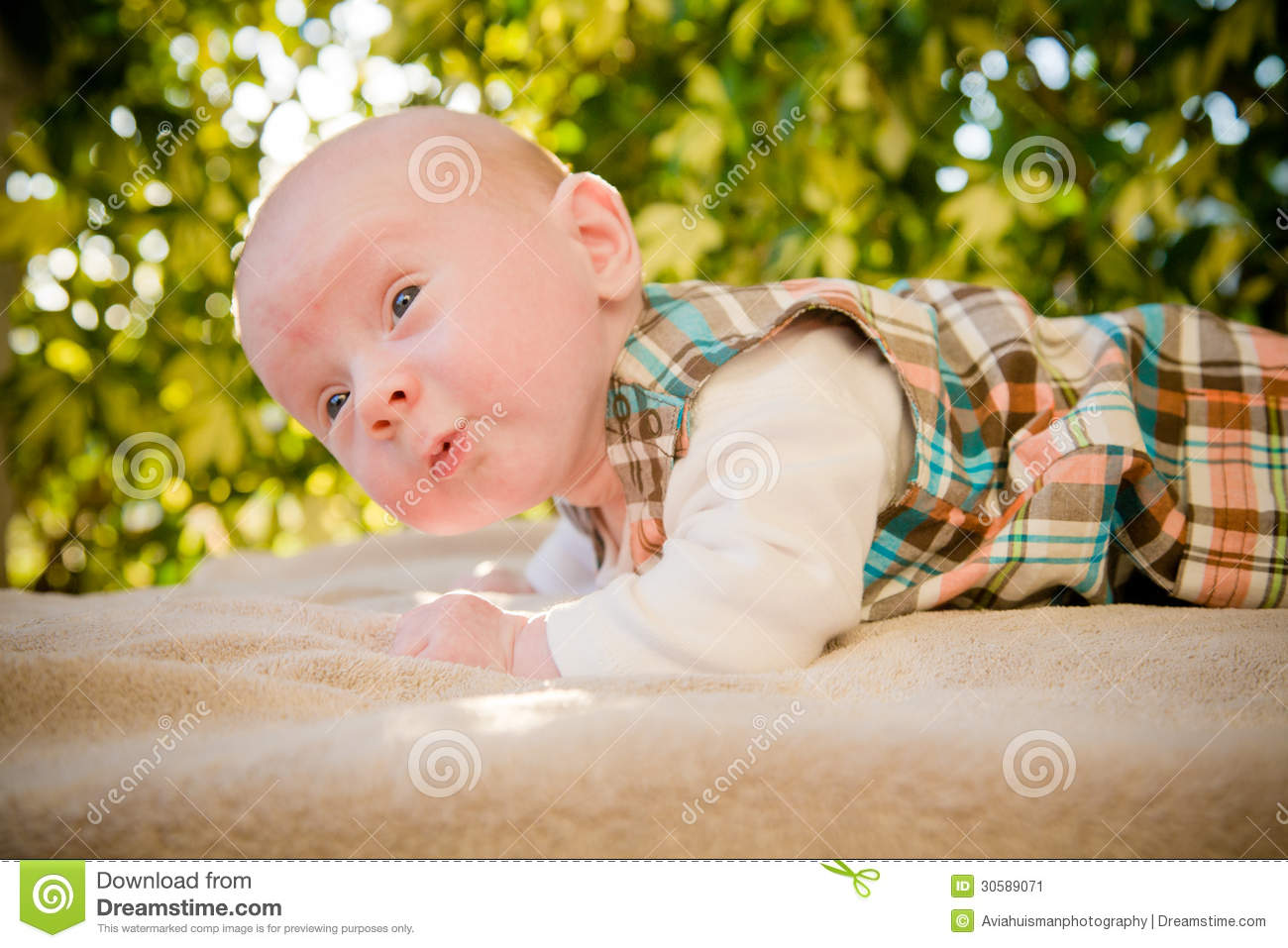 Cute Curious Baby Stock Image Image 30589071