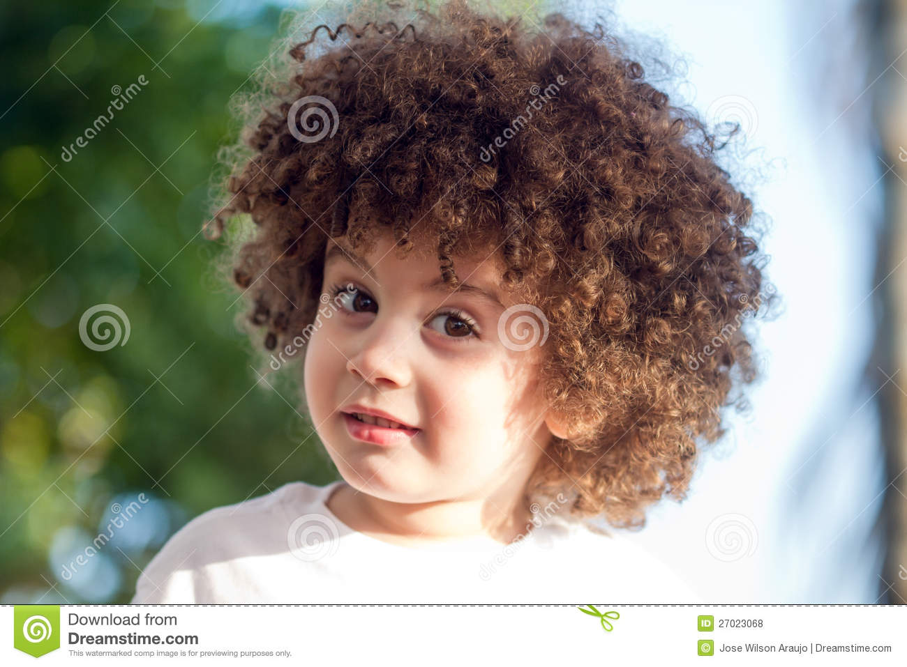 Cute Curly Hair Kid Royalty Free Stock Photos Image