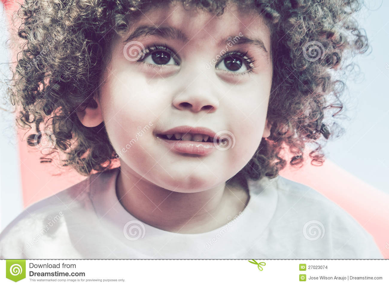 Cute Curly Hair Kid Stock Images Image 27023074