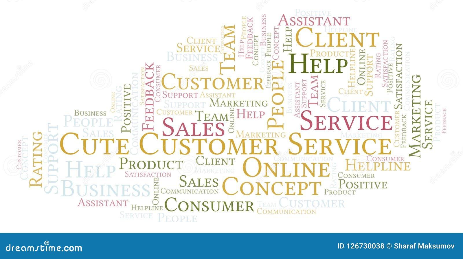 Cute Customer Service Word Cloud  Stock Illustration