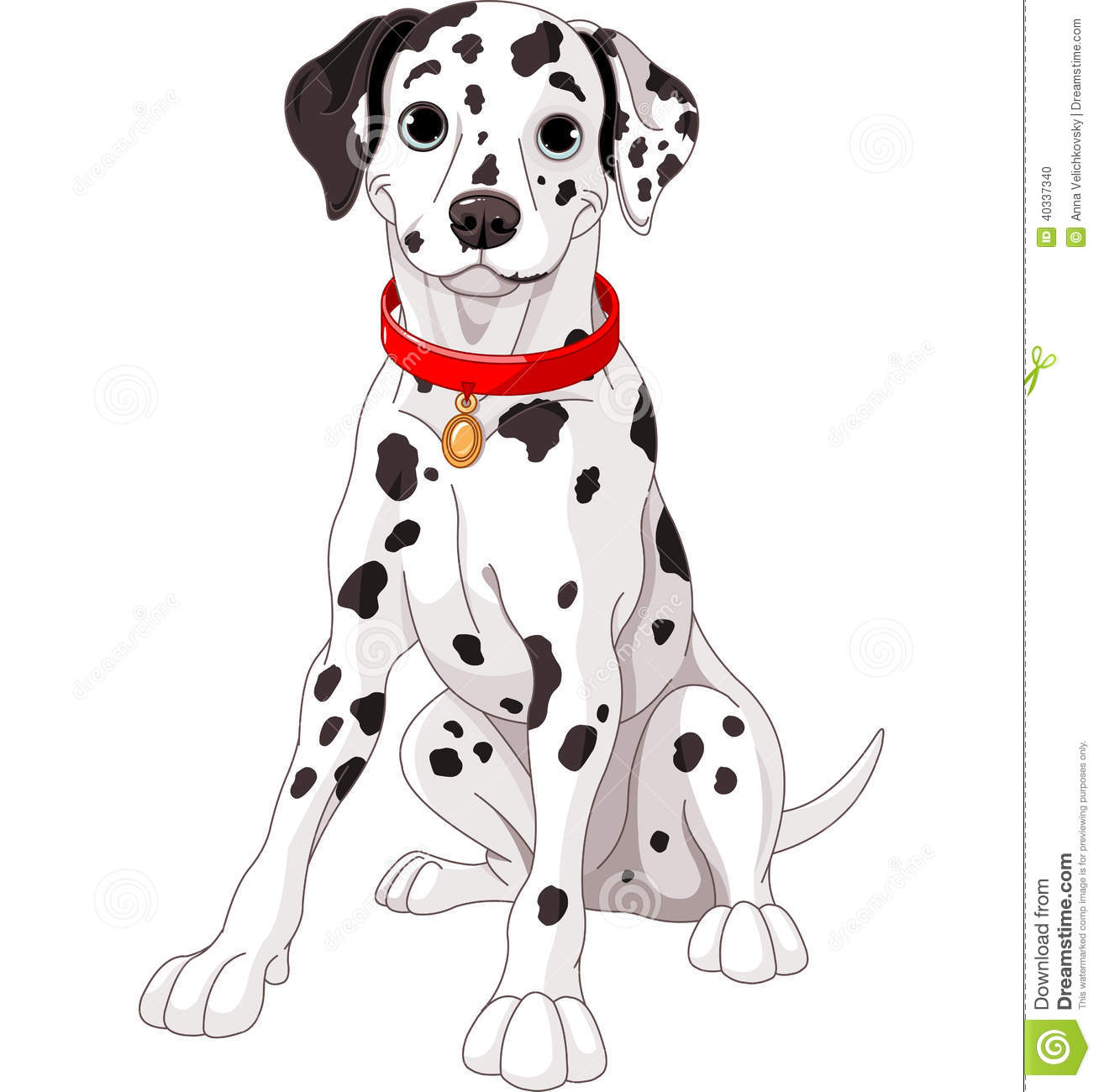 cute dalmatian dog stock vector image 40337340 dalmatian clip art outline dalmatian clip art perdia