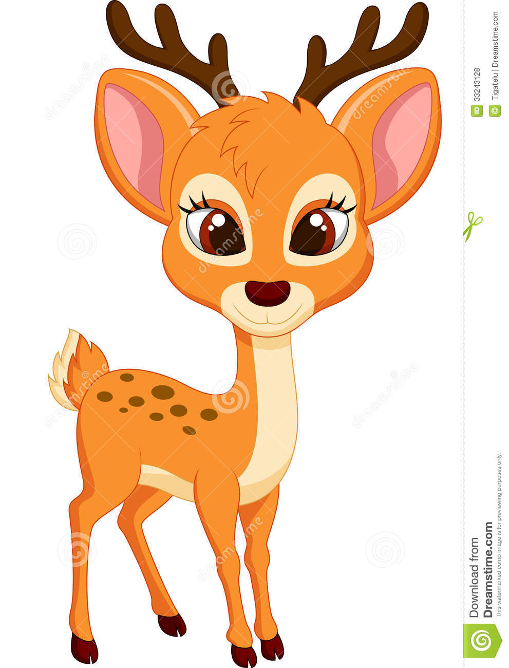 Cute deer cartoon stock vector. Illustration of icon ...
