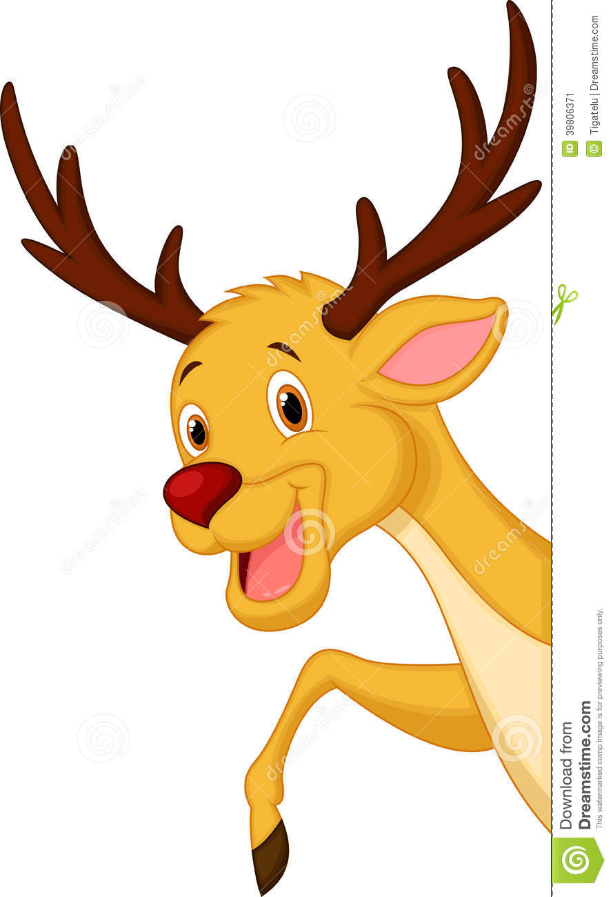 Cute reindeer head clipart - photo#23