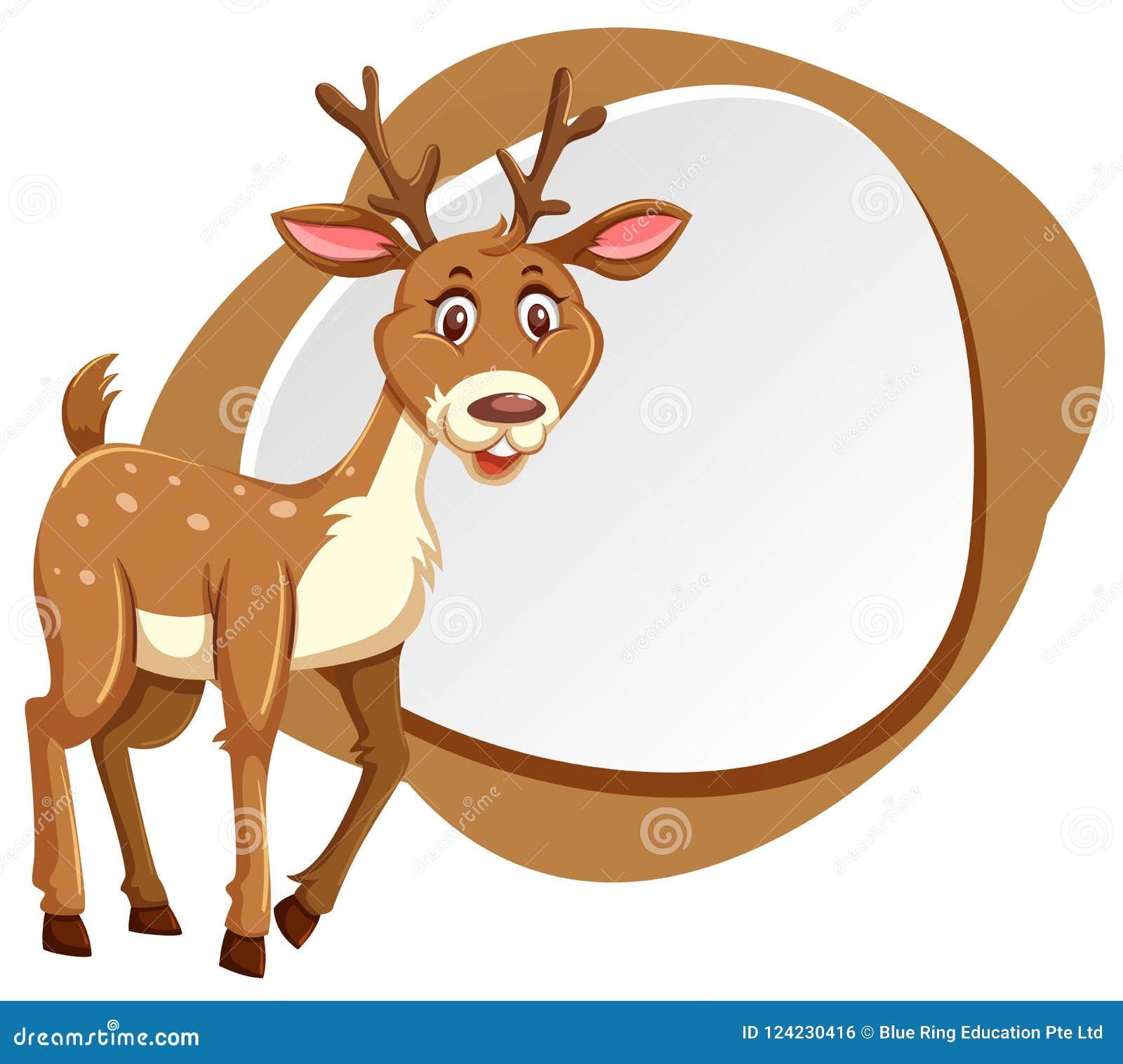 Cute Deer With Splash Frame Stock Vector - Illustration of colorful ...