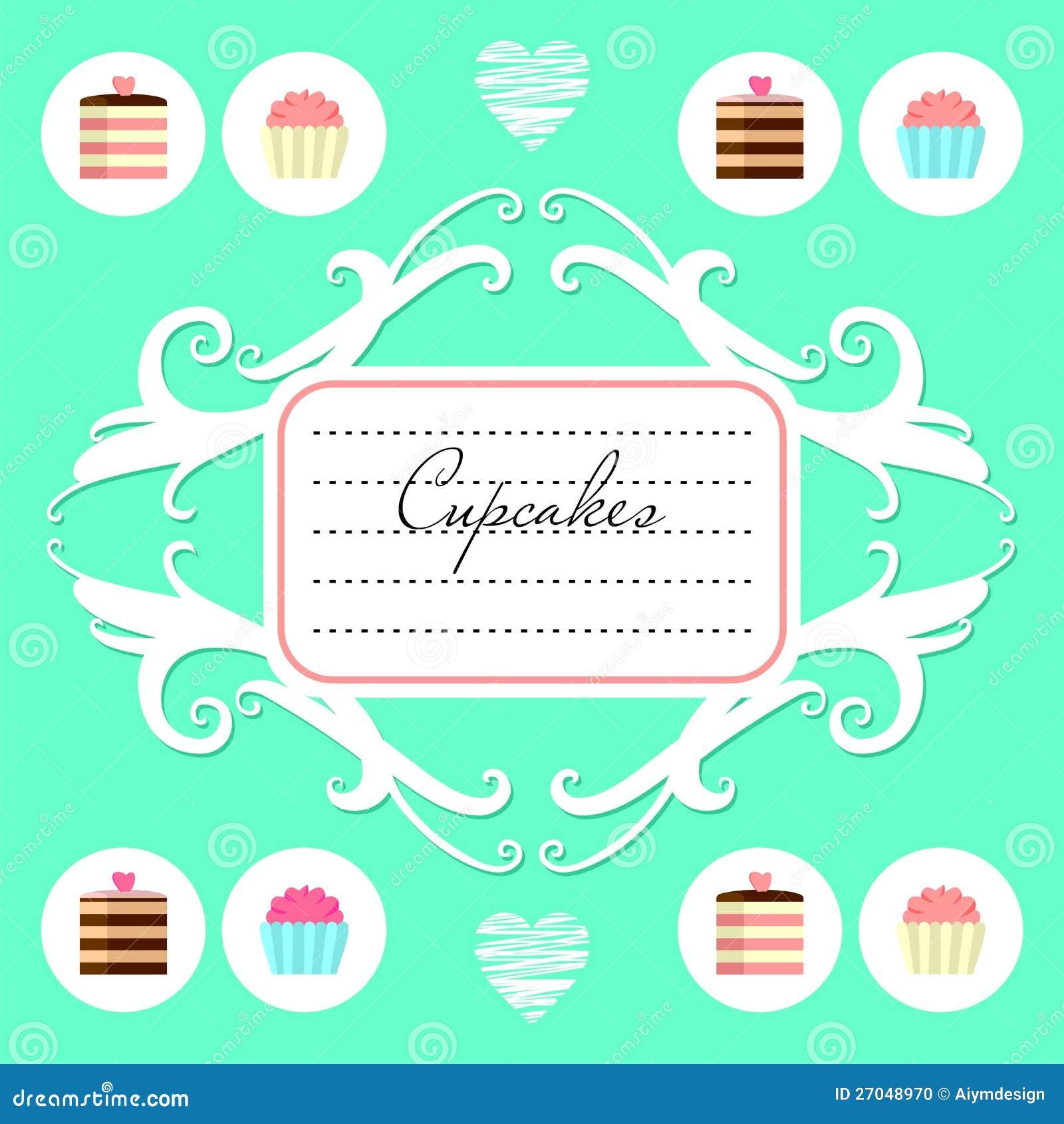 cute dessert menu design stock vector image of decoration 27048970. Black Bedroom Furniture Sets. Home Design Ideas