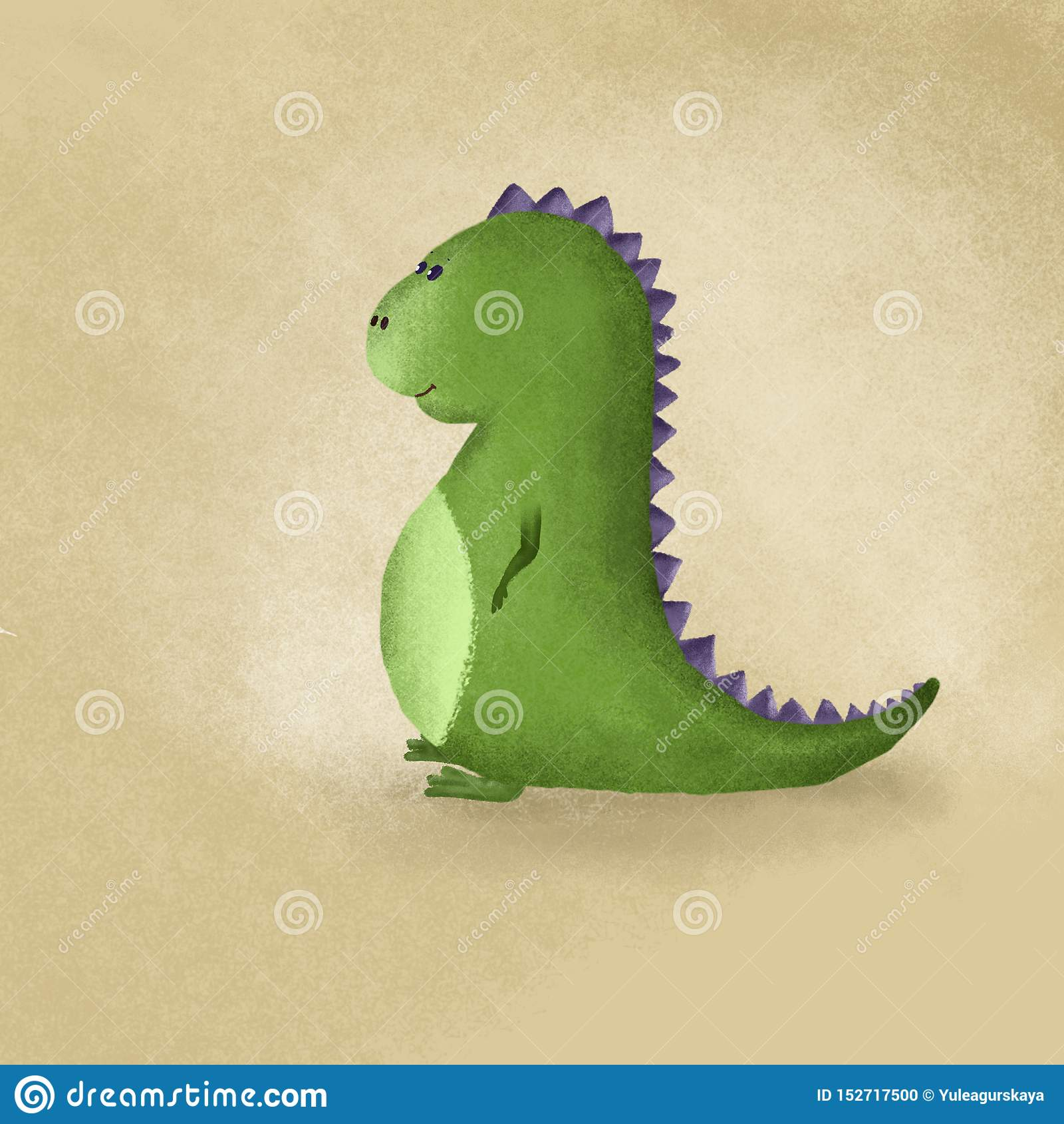 CUTE DINOSAUR MADE IN CARTOOM STYLE LOVELY AND PRETTY