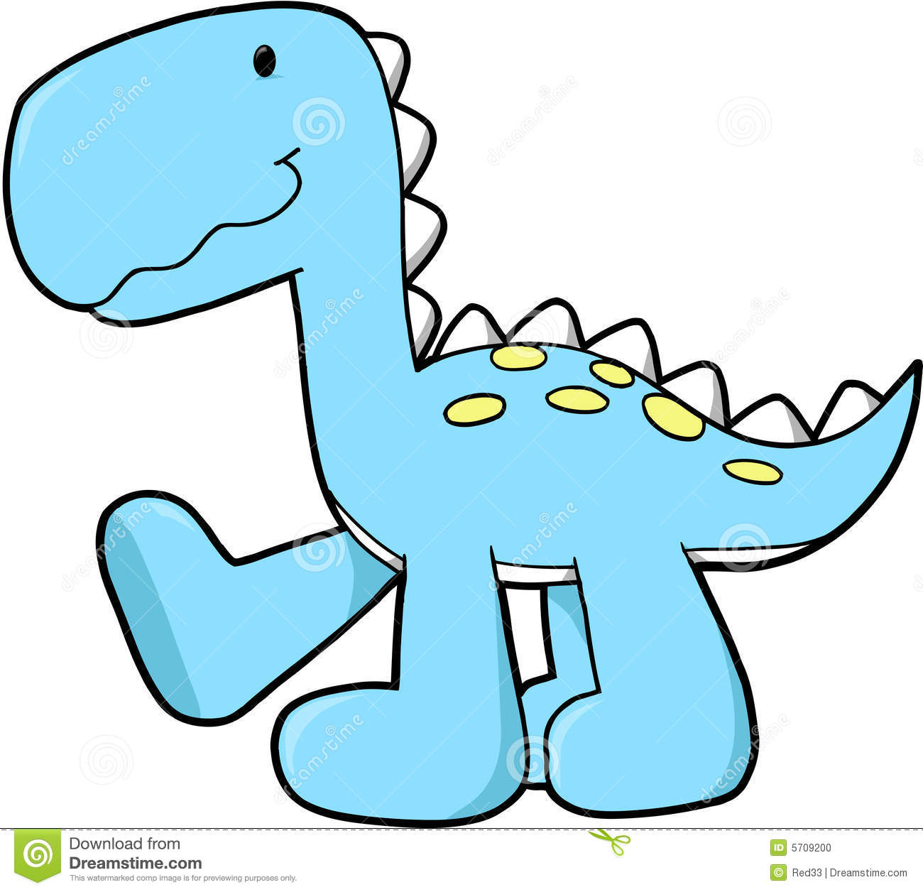 Cute Dinosaur Vector Stock Photo - Image: 5709200