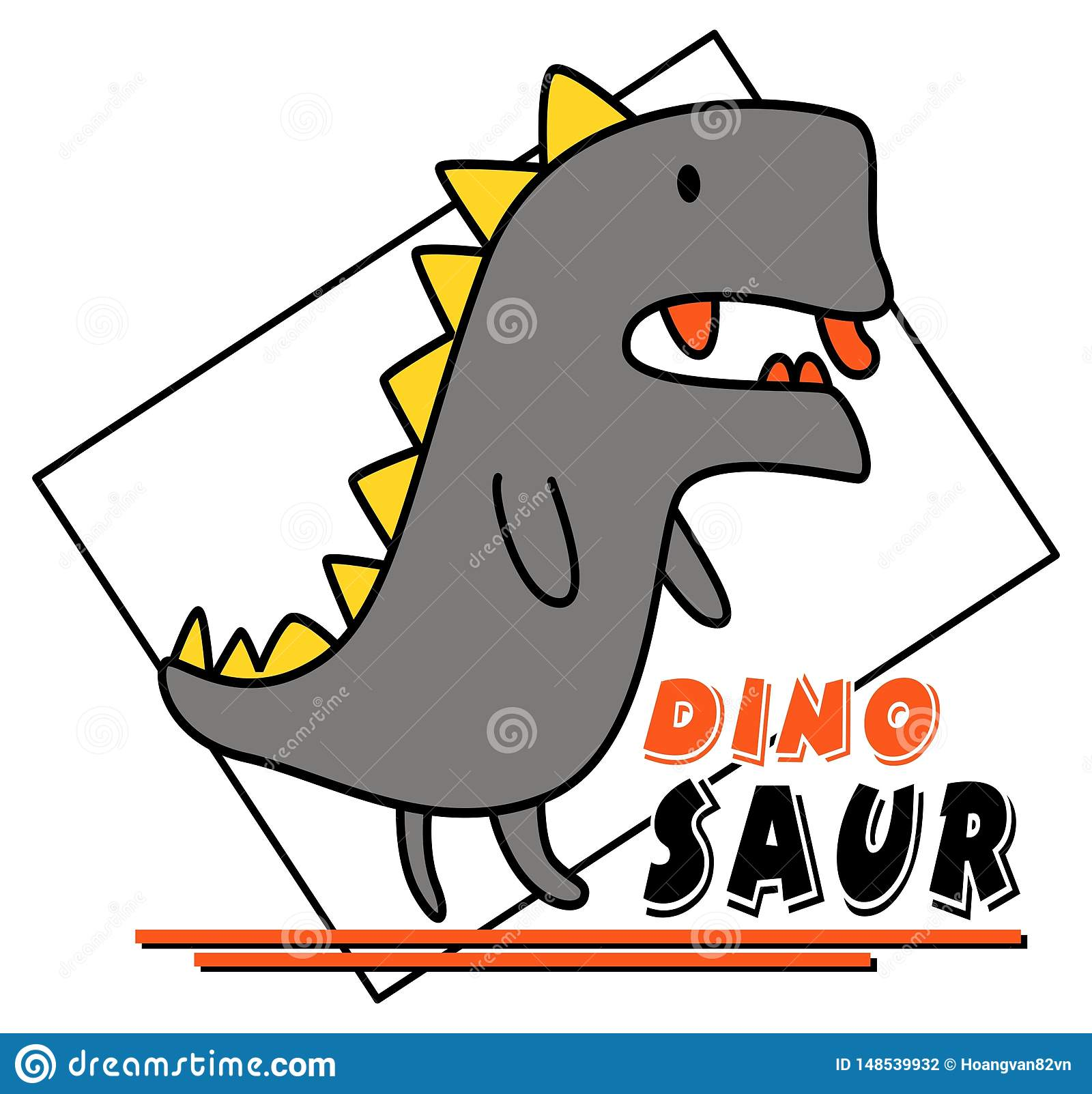 Cute dinosaur vector design