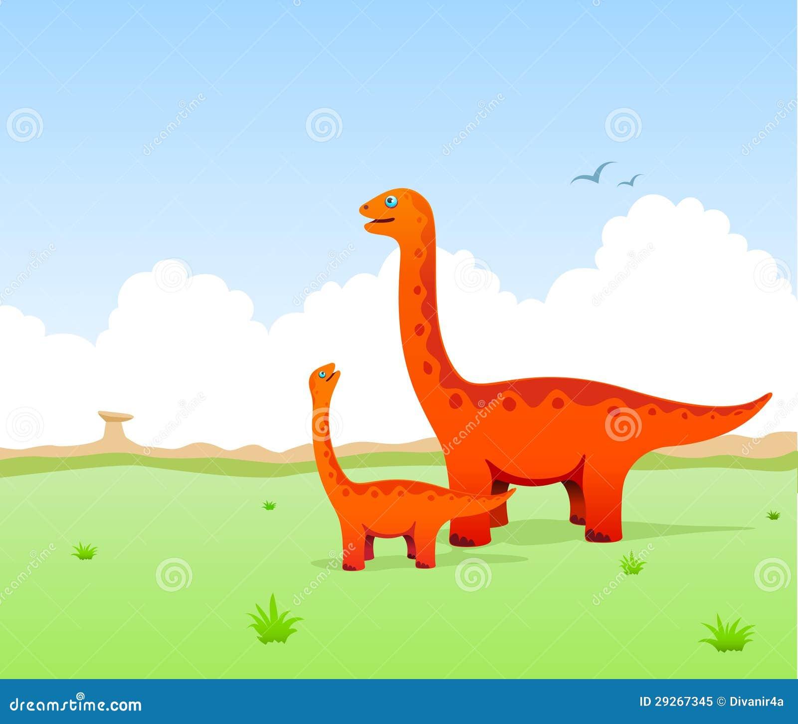 Cute Dinosaurs Illustration Stock Illustration ...