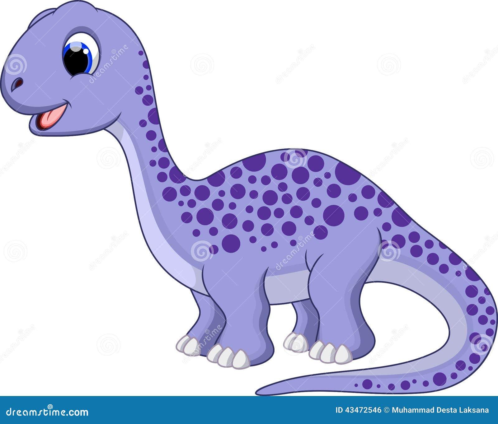 Cute Diplodocus Cartoon Stock Illustration Image 43472546
