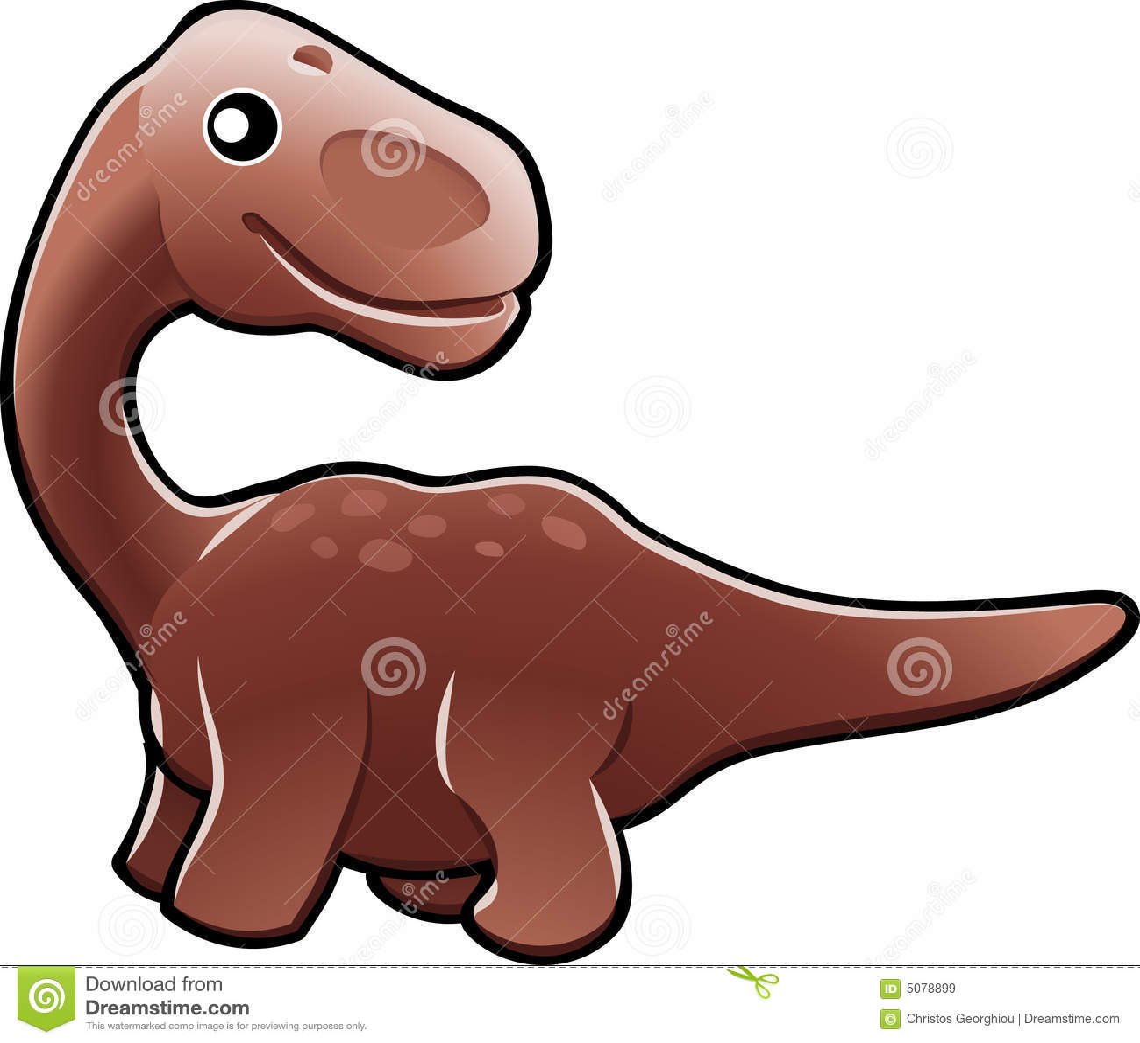 Cute diplodocus dinosaur illus