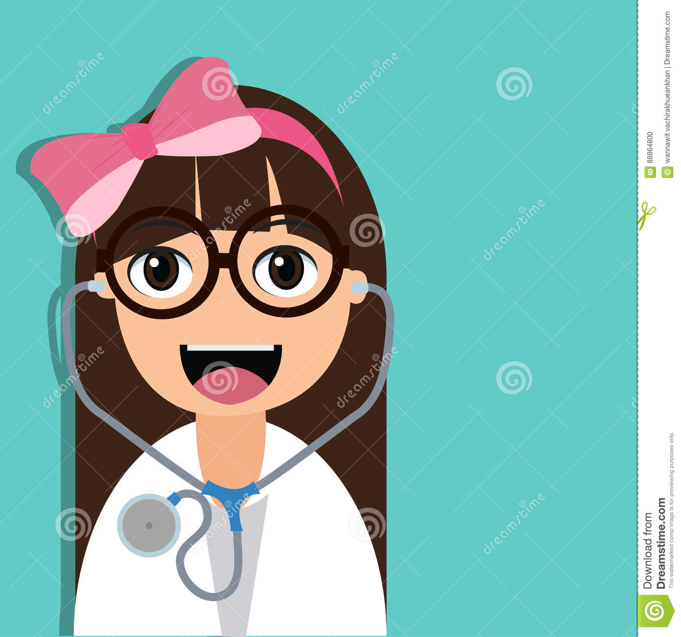 Cute Doctor Cartoon Character Stock Vector - Image: 88864800