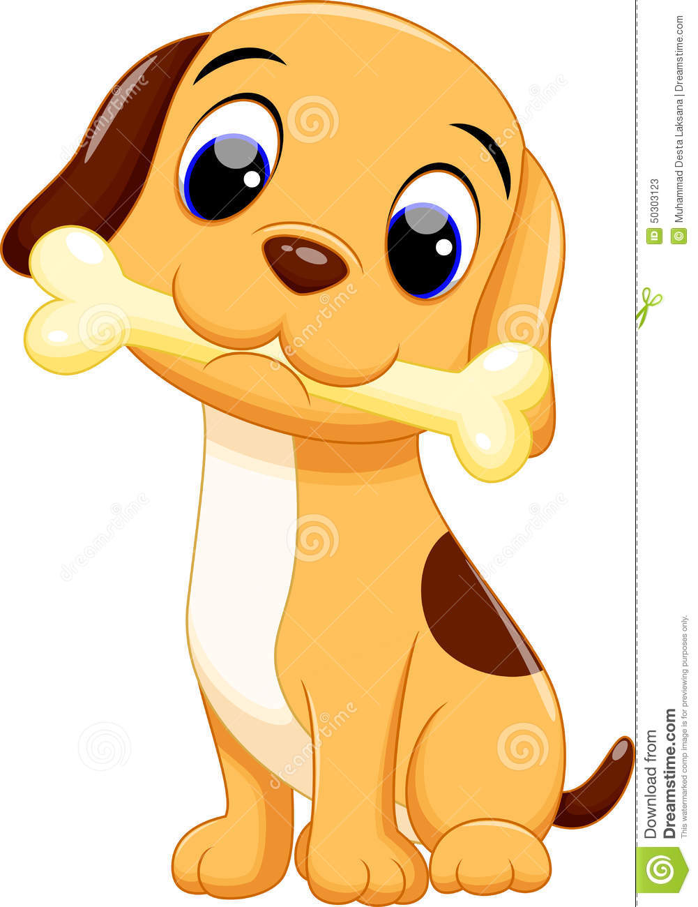 Cute Dog Cartoon Stock Illustration Illustration Of Drool 50303123