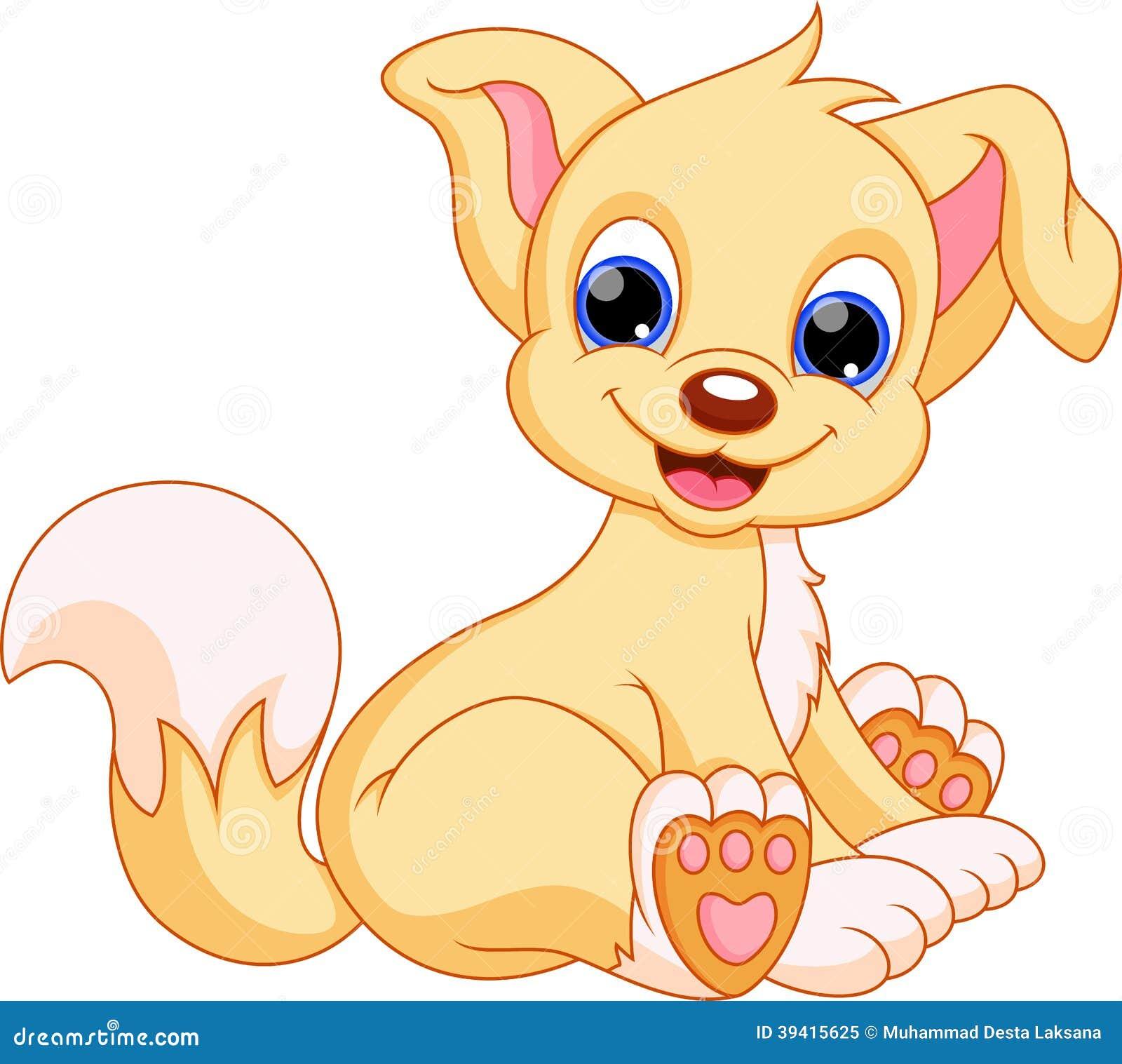 Cute Dog Cartoon Stock Illustration Illustration Of Color 39415625