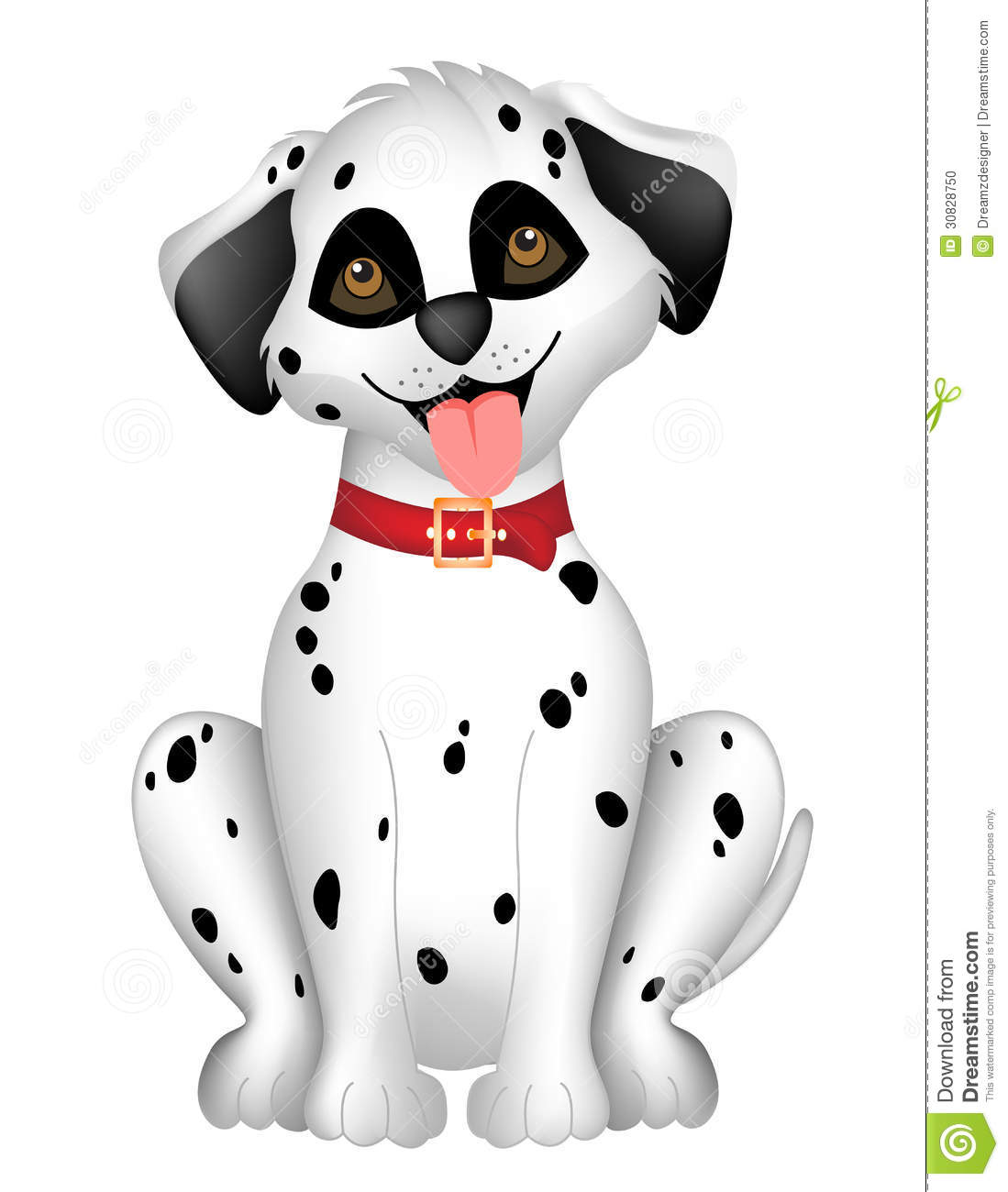 Dalmatian Clipart Cute dog dalmatian stock photo