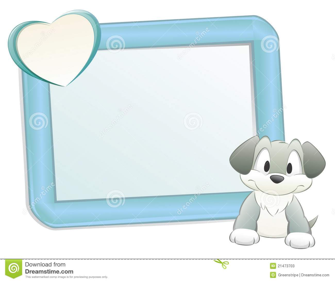 Cute Dog With Frame Stock Photos Image 21473703