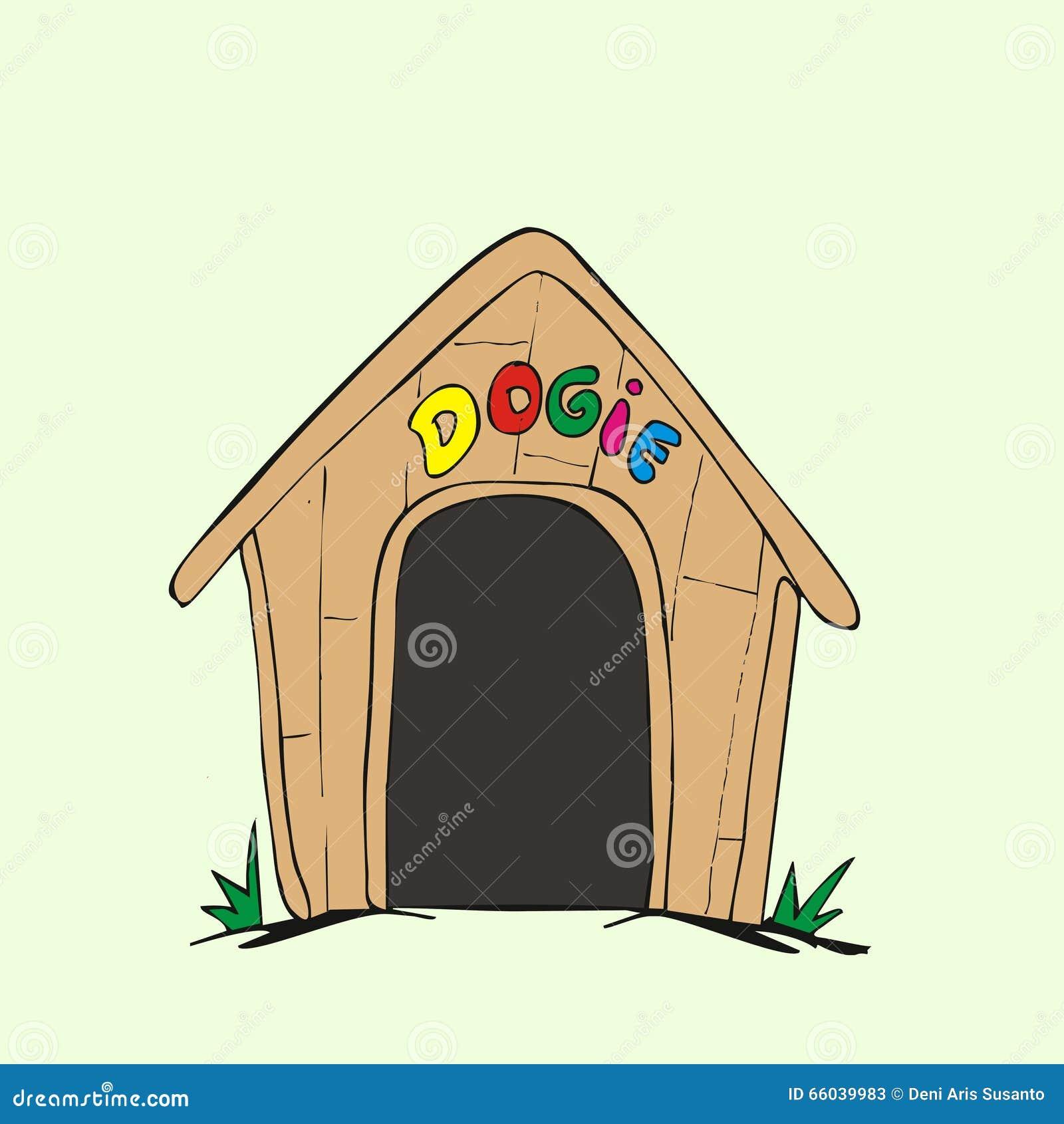Cute Dog Houses Cartoon