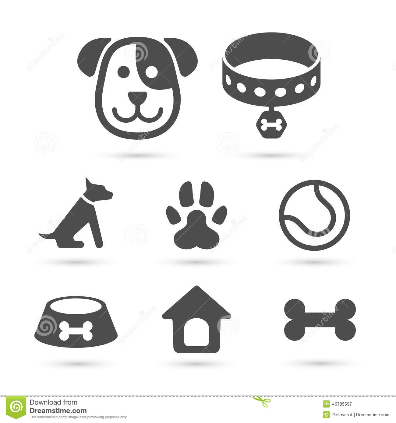 Heart Dog Icon Free