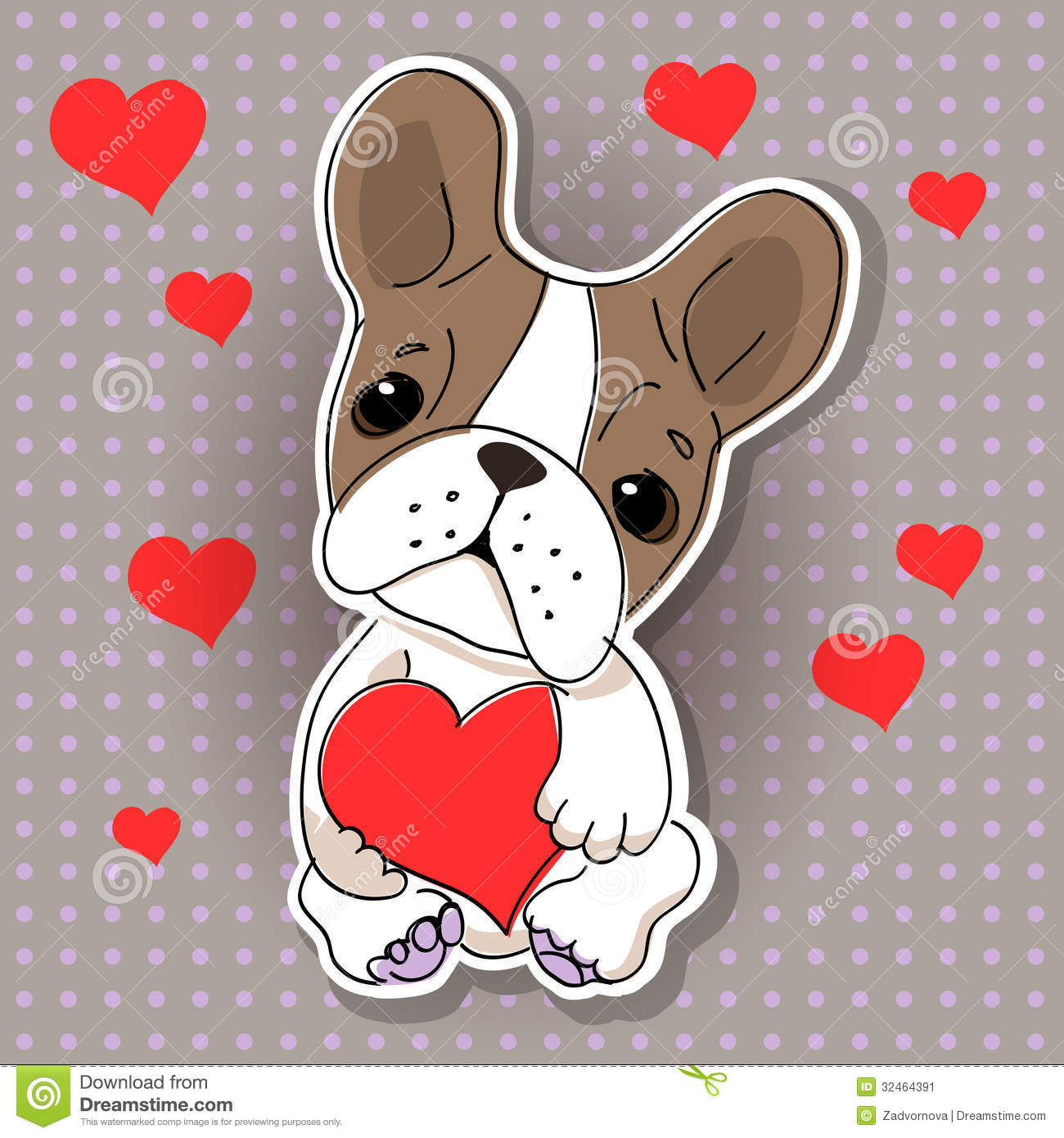 Cute Dog In Love Stock Image Image 32464391