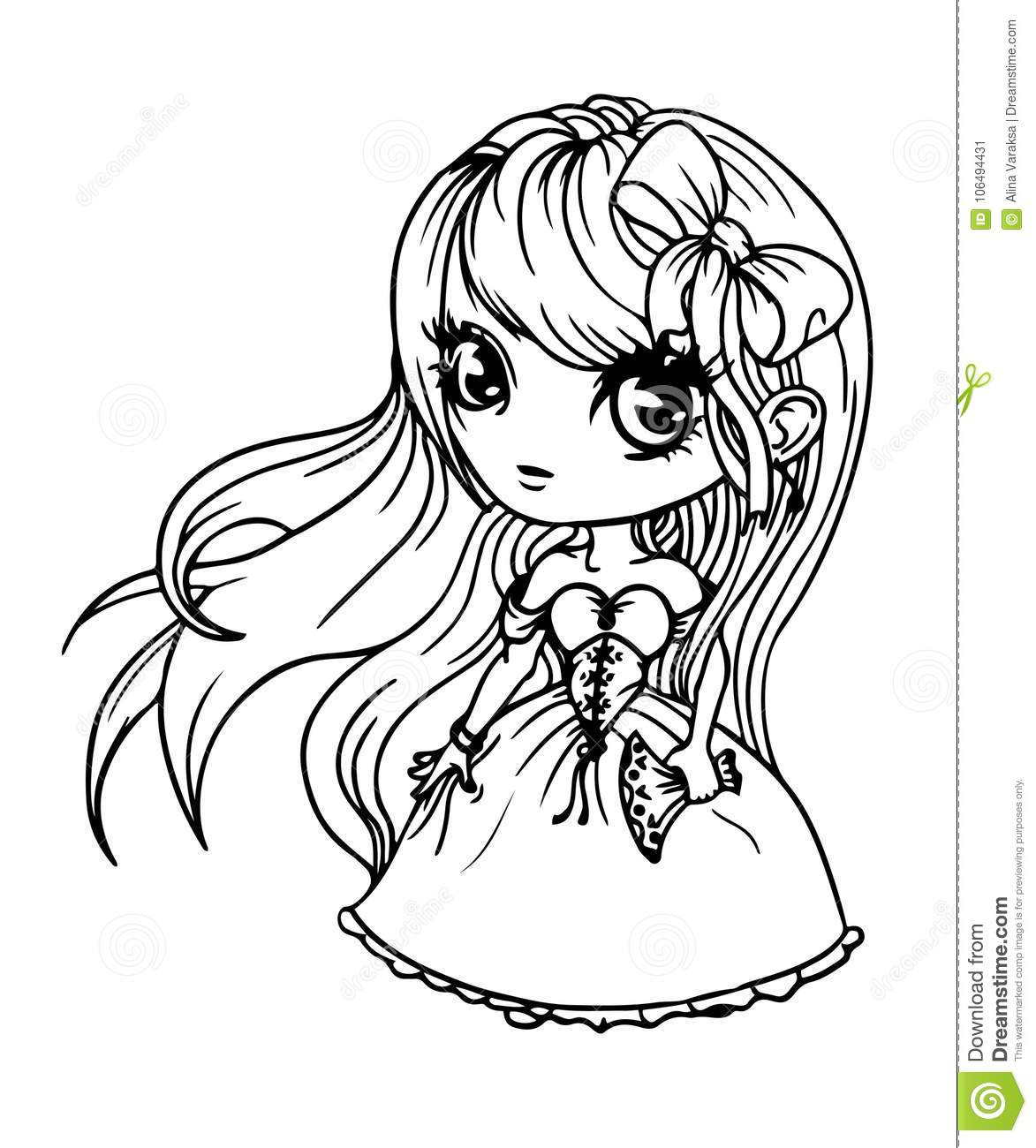 Cute Doll Girl Stock Vector Illustration Of Clothes