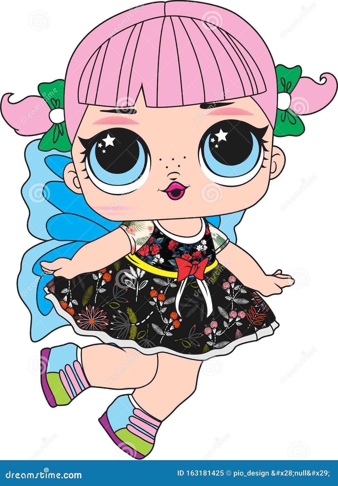 Cute Doll Lol Surprise Stock Illustration Illustration Of Cartoon