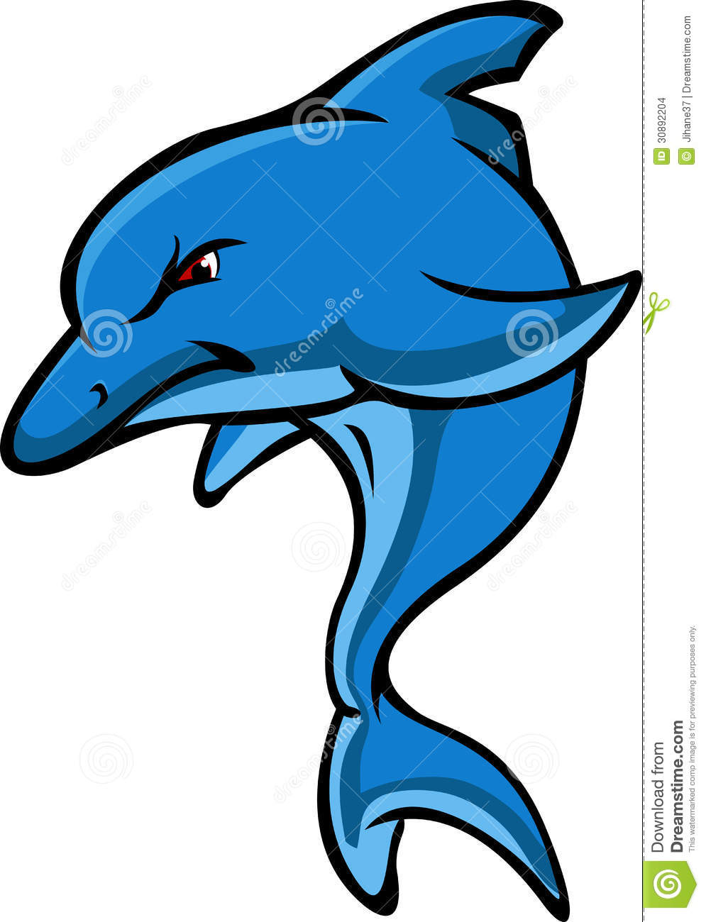 Cute Dolphin Cartoon Stock Images - Image: 30892204