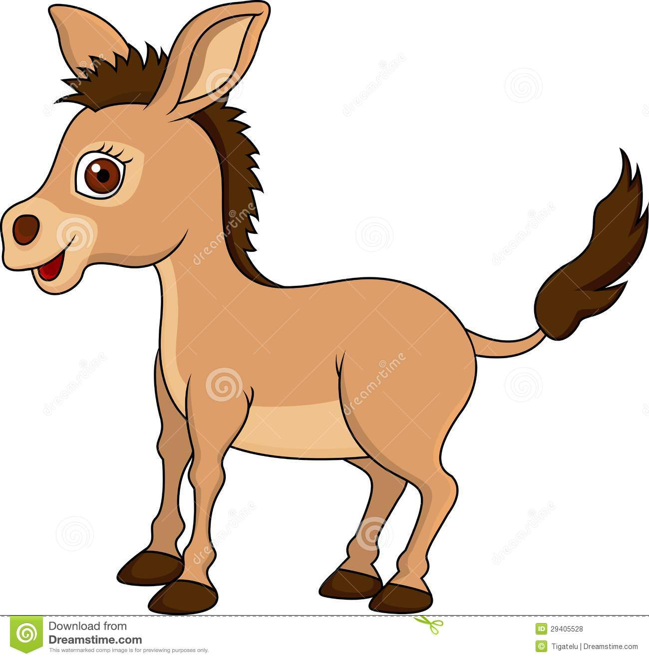 cute donkey cartoon royalty free stock photos   image 29405528