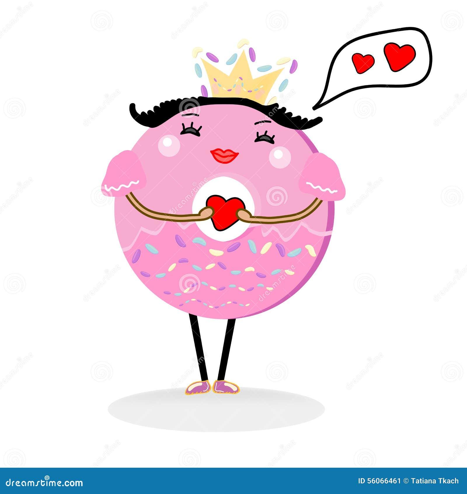 Cute Donut Cartoon Character Stock Vector - Illustration ...