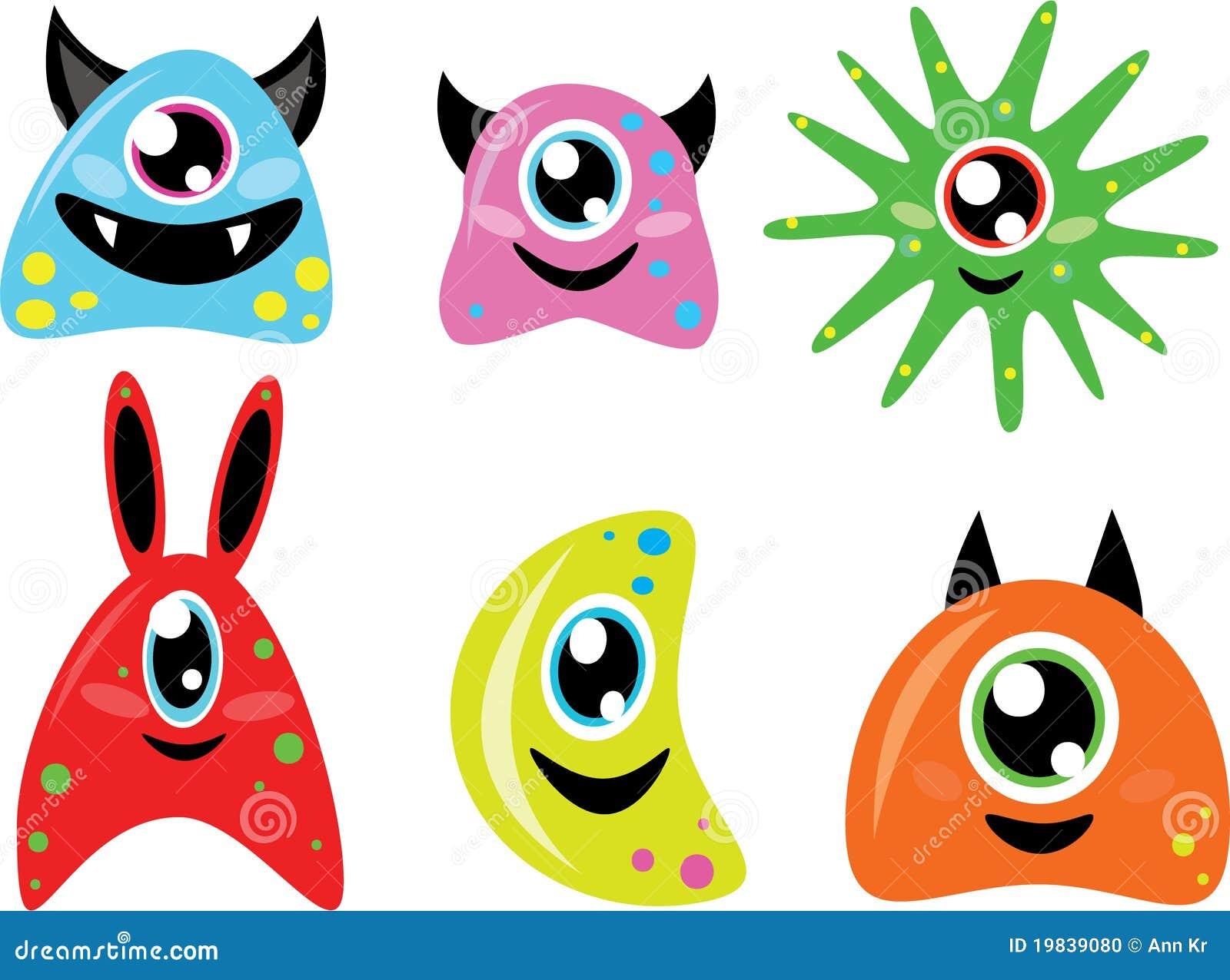 Cute doodle monsters