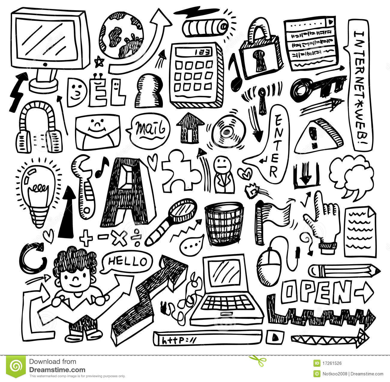 Cute Doodle Web Royalty Free Stock Image Image 17261526