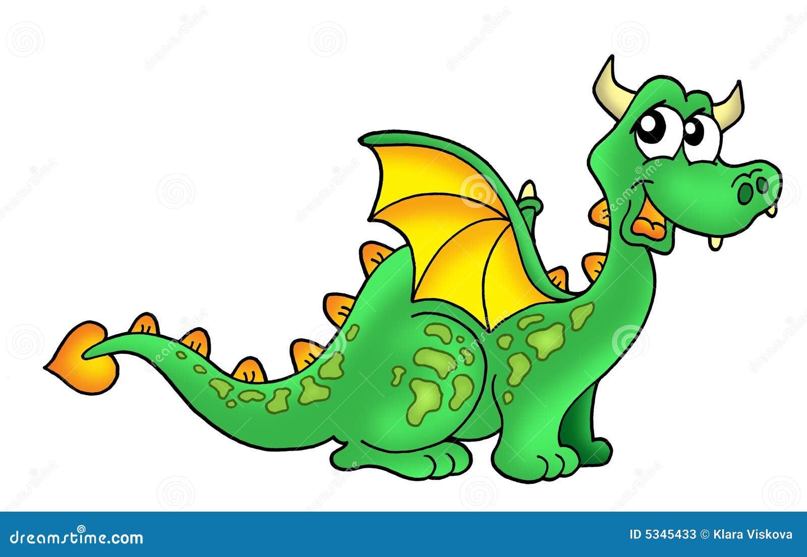 Cute green dragon stock illustration. Illustration of dragon - 5603272