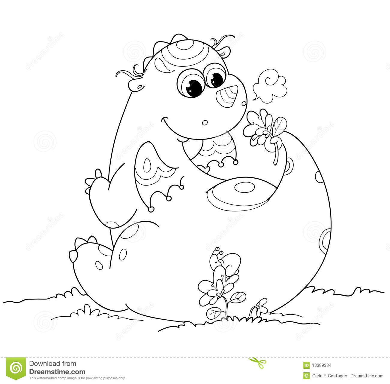 baby dragon cartoon coloring pages | Cute Coloring Baby Dragon Stock Images - Image: 13389384