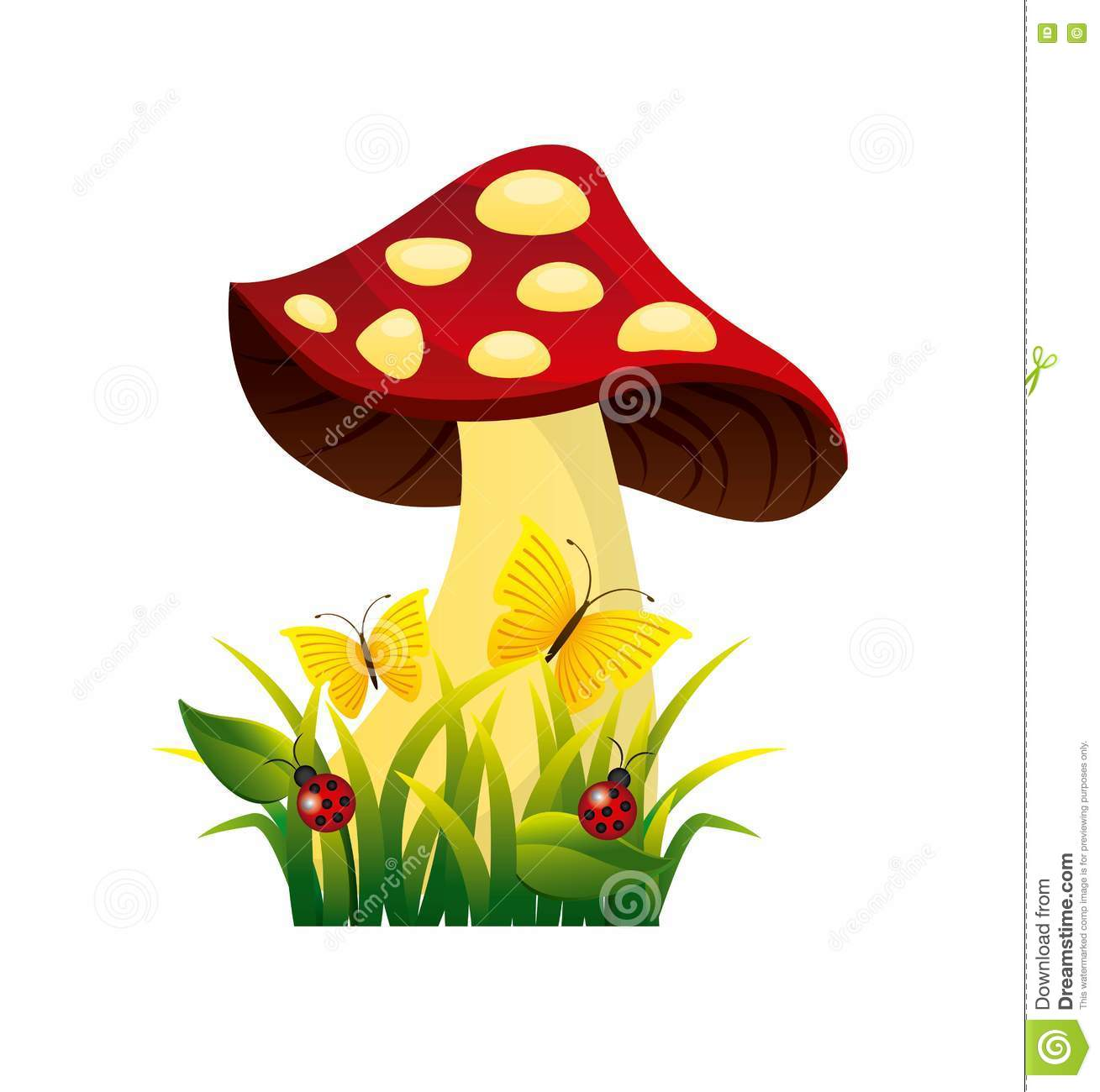 Cute drawing fairy mushroom stock illustration image for Fairy on a mushroom drawing