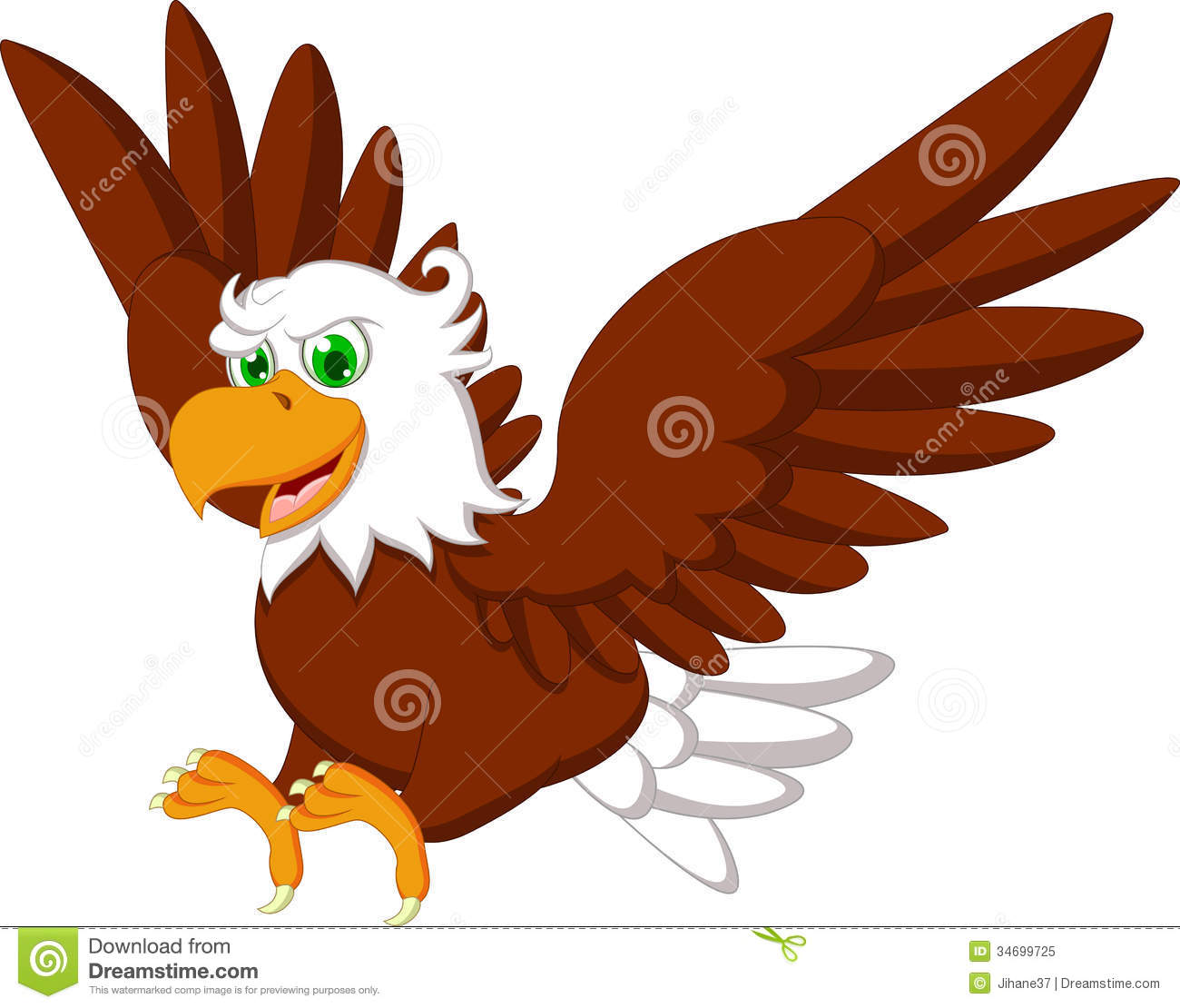 Cute Eagle Cartoon Royalty Free Stock Photo - Image: 34699725