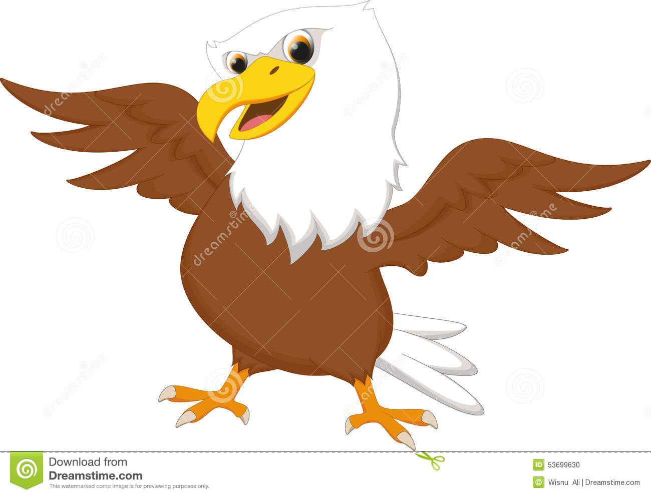 Cute Eagle Cartoon Stock Illustration - Image: 53699630