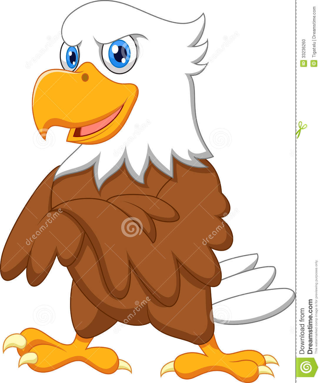 Cute Eagle Clipart Cute eagle cartoon posing