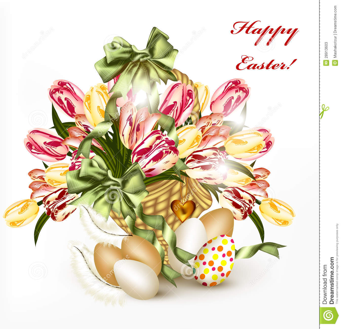 Cute Easter Pictures Cute easter greeting card with