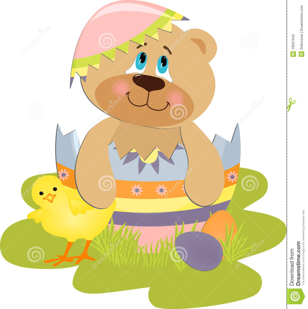 Cute Easter Pictures Cute easter illustration with