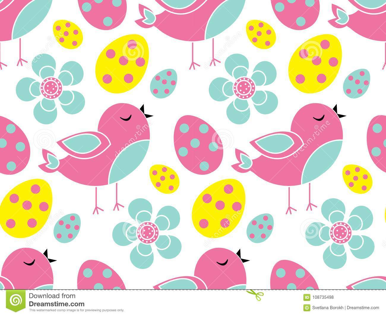 cute easter seamless pattern. spring repeating textures. children`s