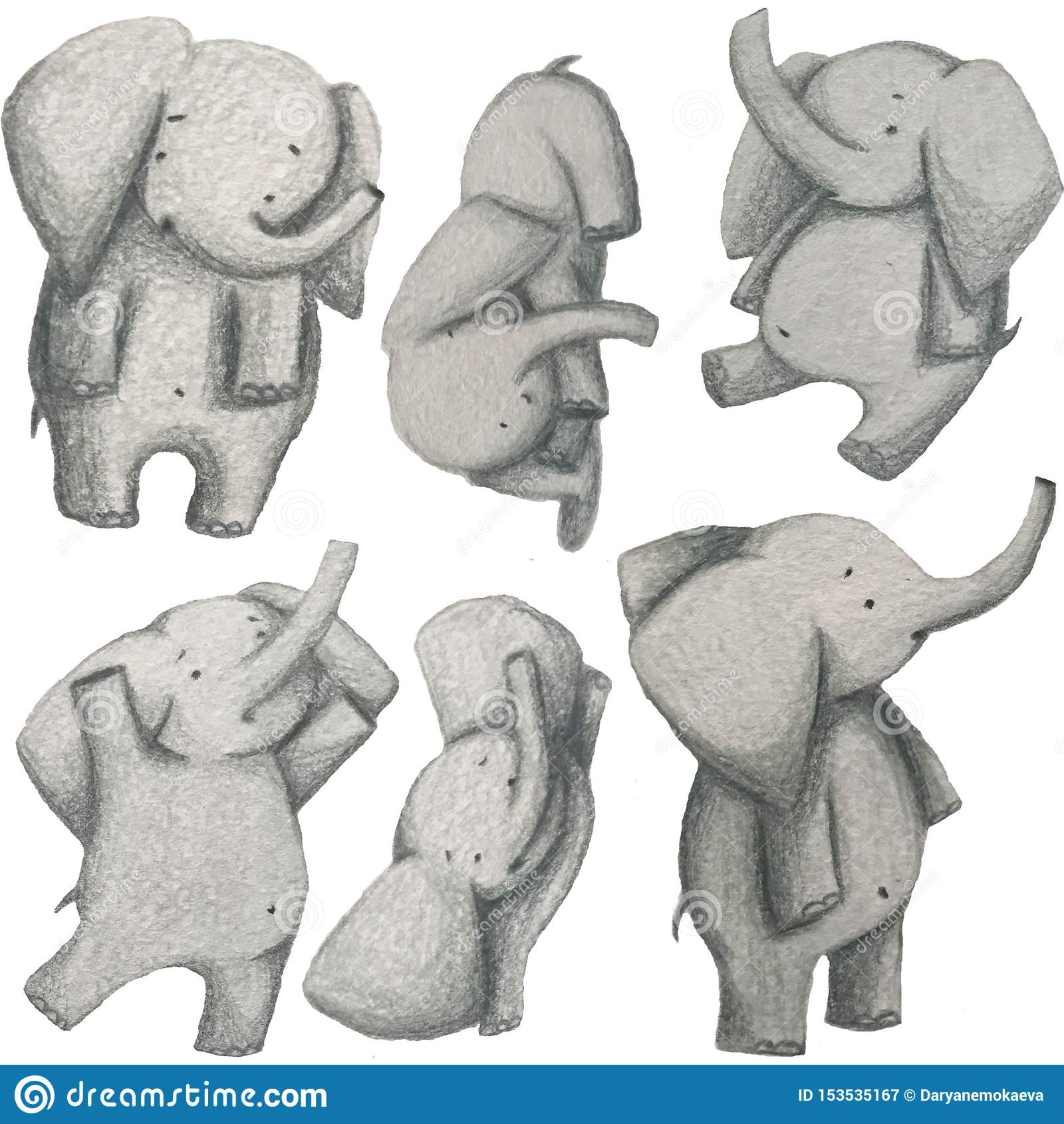Cute elepants set