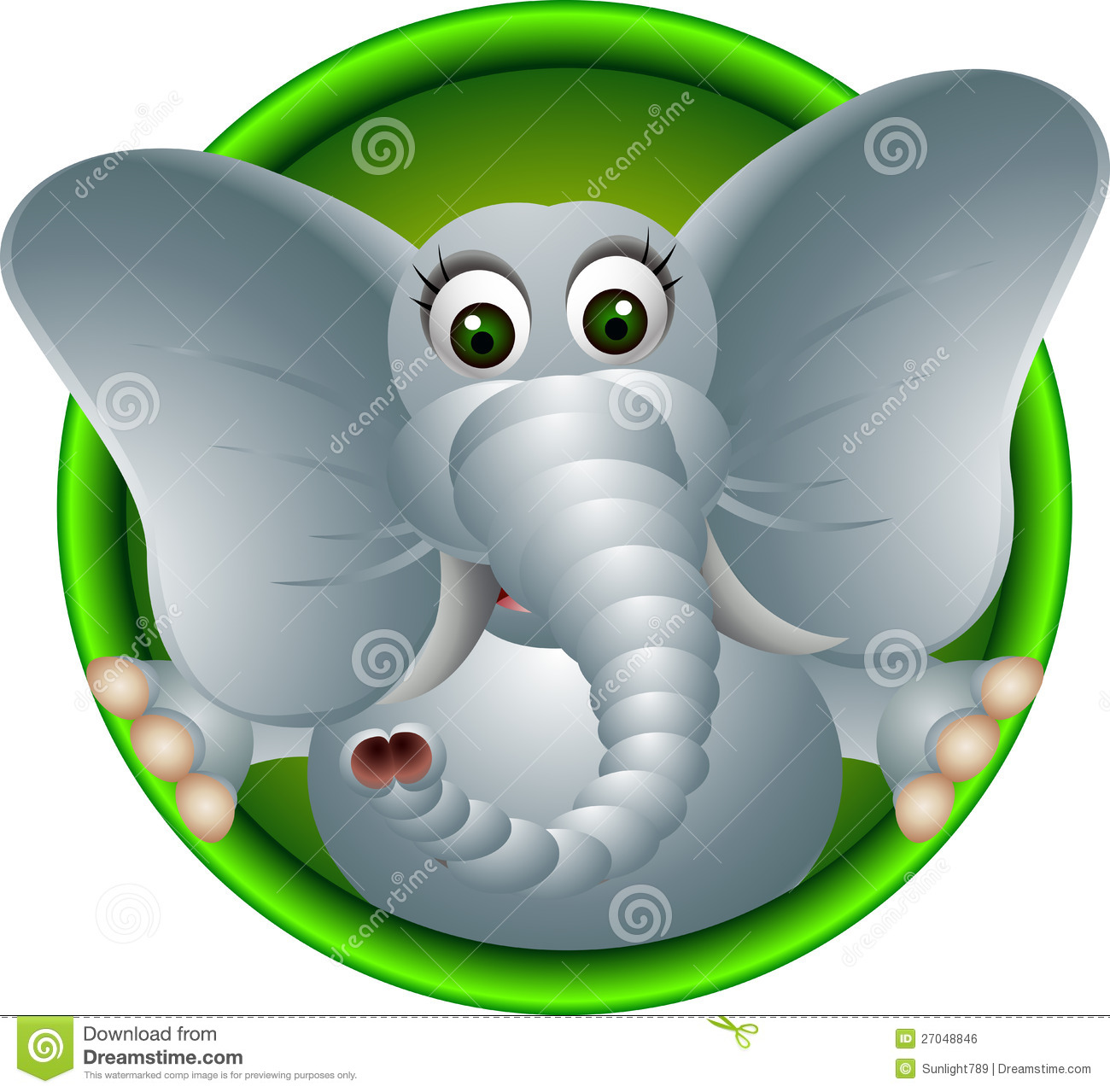 Cute Elephant Cartoon Royalty Free Stock Image - Image: 27048846