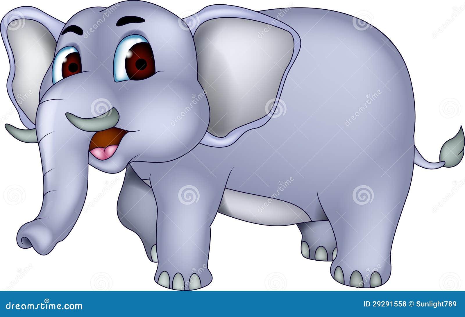 Cute elephant cartoon stock illustration. Illustration of ...