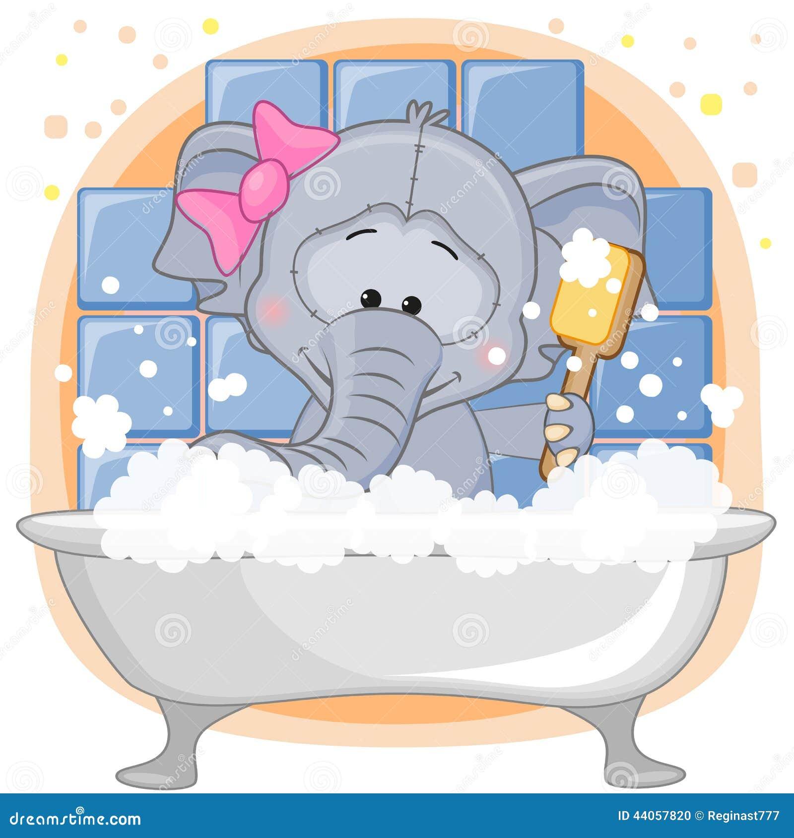 Cute Elephant Stock Vector Image 44057820