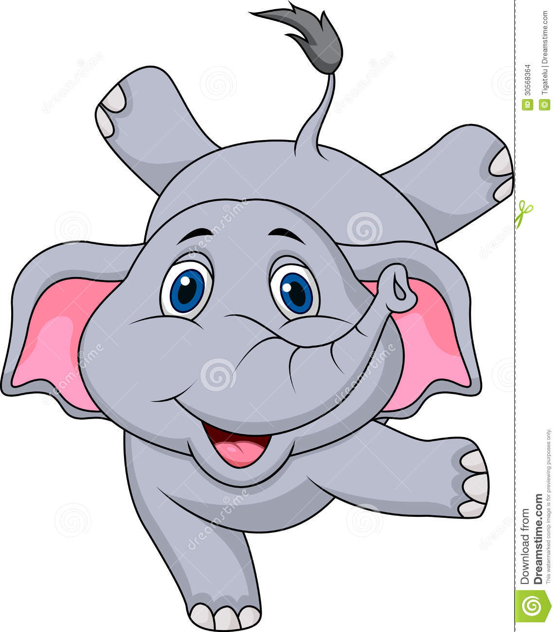 Cute Elephant Cartoon Circus Stock Images - Image: 30568364