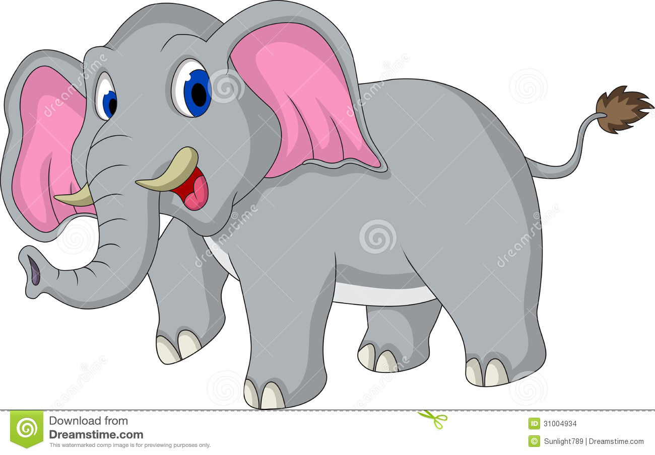 Cute Elephant Cartoon Stock Images - Image: 31004934