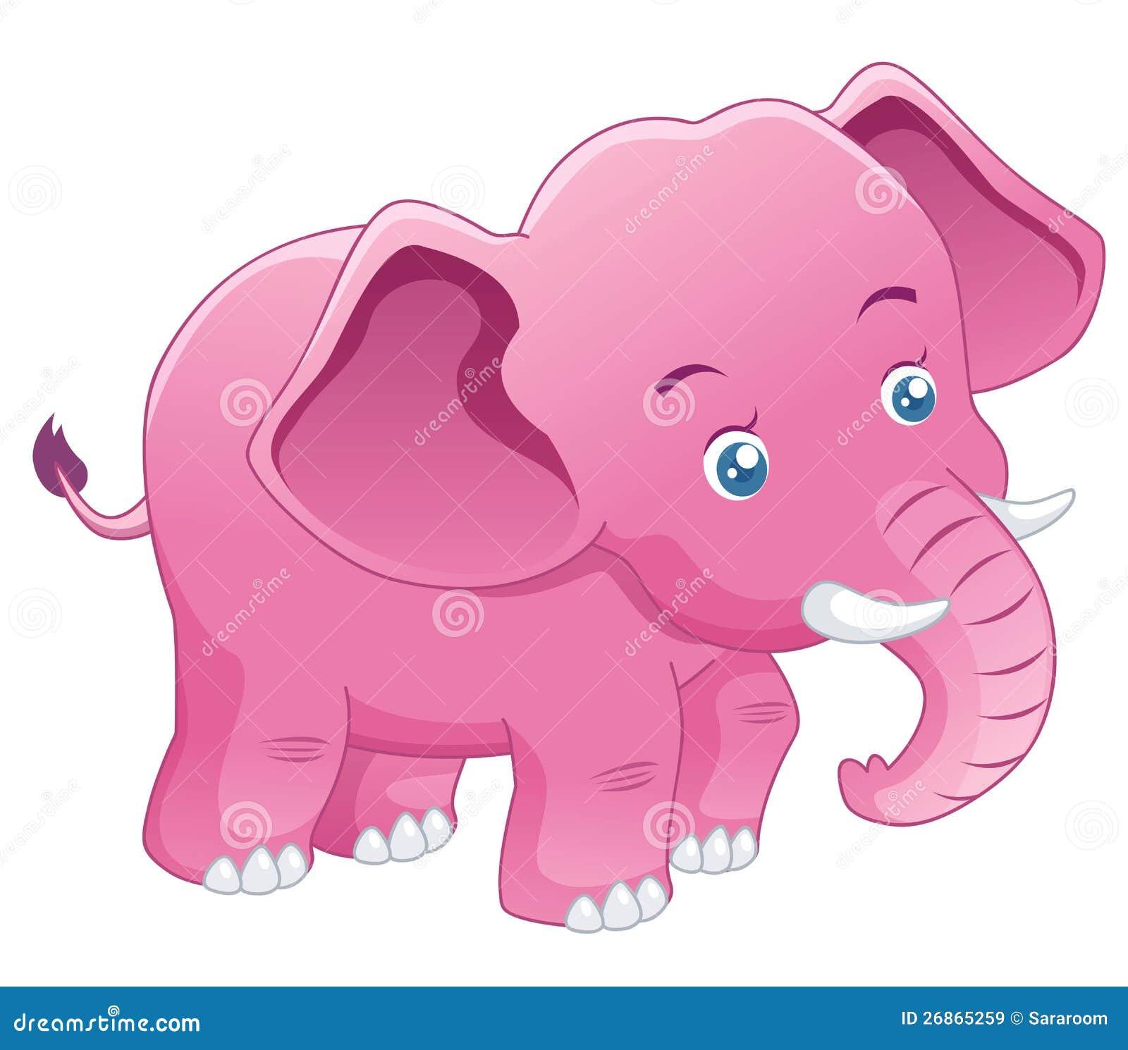Cute pink elephant cartoon - photo#18