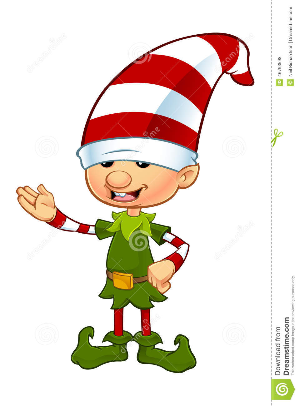 Cute elf character stock vector image of creature fairy