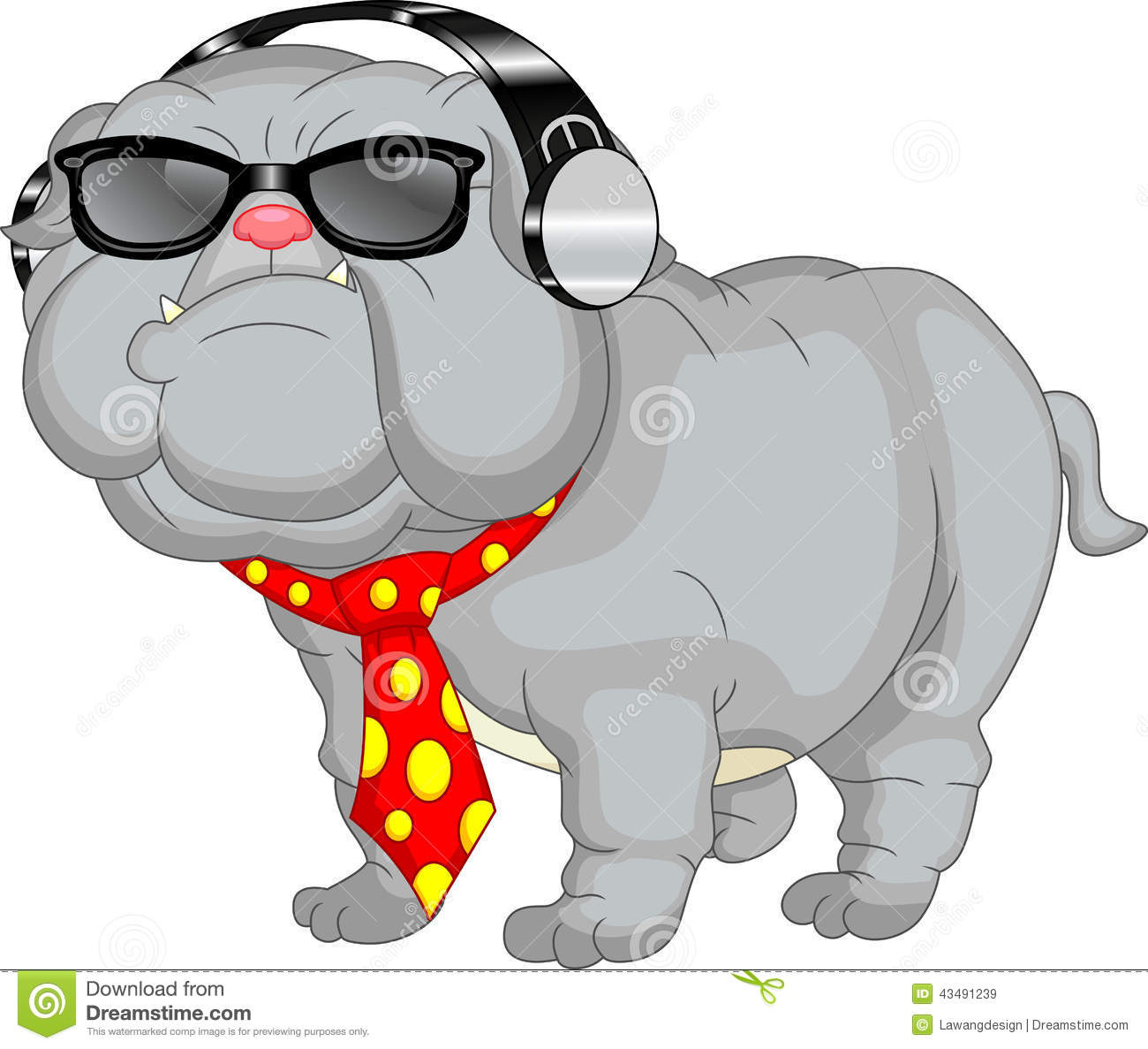Cute english bulldog cartoon - photo#3
